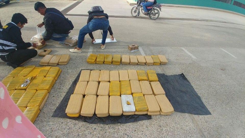 Tres colombianos caen con 579 paquetes de droga (VIDEO Y FOTOS)