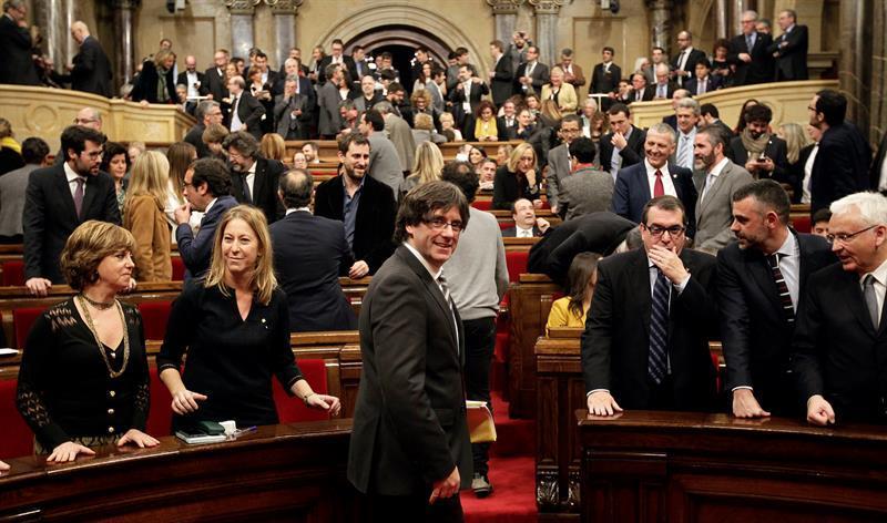 Moción para votar independencia en el Parlament — Cataluña