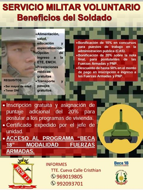 Convocatoria al Servicio Militar Voluntario